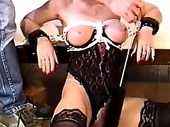 Tied Up Woman In Lingerie