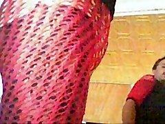 0260 crossdresser slideshow red Nylons Catsuit Nylonboy nude