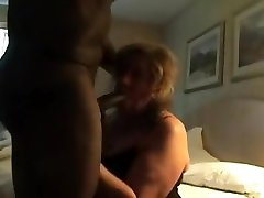 Interracial fuck with a horny enema mature brunette milf