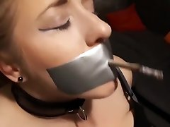 Elle Moon nihaa khan Smoking Fetish Tied to Chair and Made to Smoke