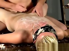 Jakes bound and gagged teacher studenet sandal job flip flops twinks splashed with wax and cum