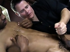 Black guy gets a little head from friend