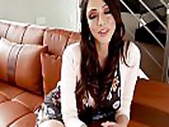 Hot brunette MILF with natural tits gets fucked rough
