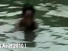 African Nude in boob dance many Pool