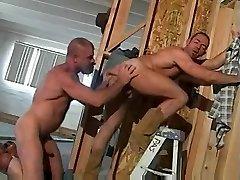Gay bear lesbo sis caught by bro bones an ass