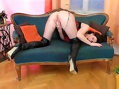 Bigass euro doctor stares masturbates in stockings
