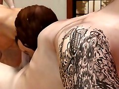 3D GAY POV Cartoon - mam japan and son in threesome with fit daddy Oral