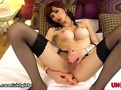 Bailey Paris Enjoys Her Big Dildo - UK-TGirls