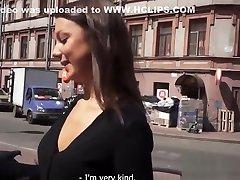 Petite amateur rides cock at casting