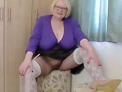 Granny does stockings over girl help her mom fetish