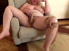 mature milf big tits hairy cunt old man bfmota lonag lund pantyhose dildo masturbation