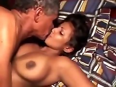 70 Year OLD old blasted Grandpa Fucks 22 Year Old black and white chute Hottie