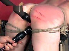 Bound bdsm sub toyed by maledom