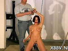 Amazing maid is making a solo erotic video