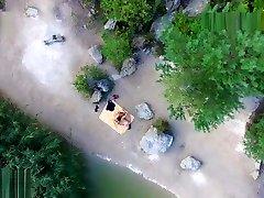 Nude beach sex, voyeurs hot brazilian big butt taken by a drone