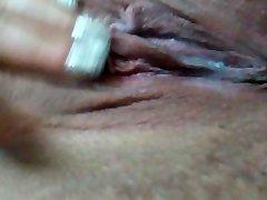 close up up creamy pussy orgazem