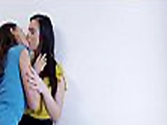 Busty lesbians Nekane and Henessy finger fuck each other