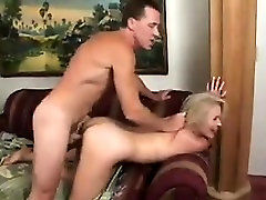 Hairy Blonde Granny Getting Fucked