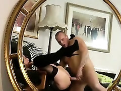 Stockings milf rimmed boob anal fucked