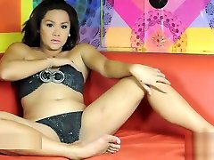 fine And fat diminutive breasts Filipino Ladyboy Stroking It And cum