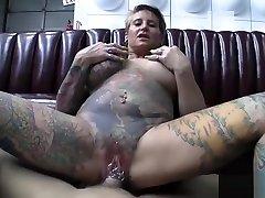 Tattoed and Pierced Milf Fucking