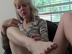 Mature Solo With Feet Play