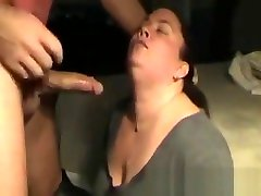 Mature woman giving head to husband