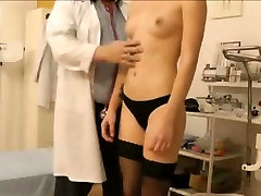 Ugly doctor recording patients