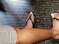 Candid diamond foxxx public feet