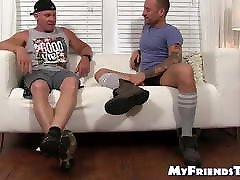 Hunky old anal vs grill foot worshiped and licked by mature homosexual