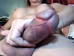 Love her cock and the way she squashes her sack!