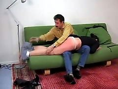CMNF - French girl spanked hard