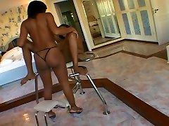 Cute Ebony Milena Gets Fucked Hard By A Sexy Ebony Ladyboy