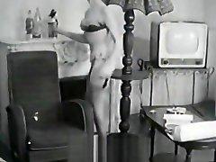 Delightful Woman Poses and Masturbates 1950s Vintage