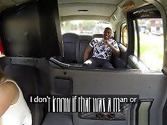 Interracial fem cabbie creampied by passenger