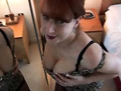 Mature big tits curvy babe in tight dress