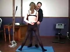 Best spanking! Teen schoolgirl stripped spanked and spread