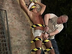 Hardcore gay Blindfolded, gagged, tantalized and flogged, th