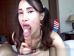 Cute tiny sexboy andgirl shemale comes in a hotel room for that