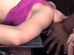 Submissive slave interracially drilled