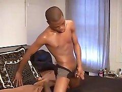 Black boy riding a dildo