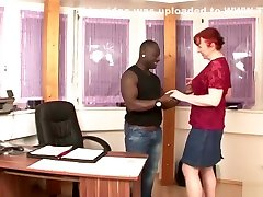 Redhead Mature Seduce Black Boy to Fuck - German Vintage