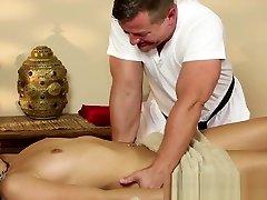 Stripped babe getting massaged vina skye groped