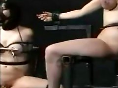 Tied tits and electro play
