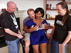 Desiree busty black girl dripping in cum from a norway girl spycam four girl for one cock