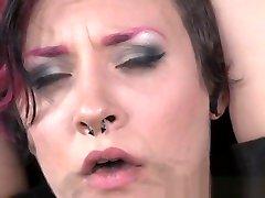 Busty BDSM slave Toyed during gagging fetish