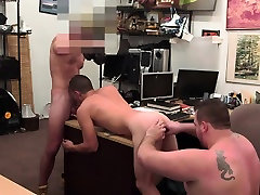 Pawnshop straight gets public grooming by pawnshop owner