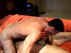 Bear sucks and rides cock