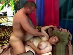 Chubby granny with huge bare party porn likes to get drilled