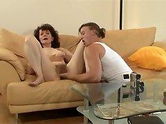 simon nudes gloria thin provides sliding friction with her pole hole